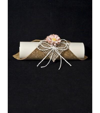 Покана ръчна изработка папирус 08 Сватбени Покани