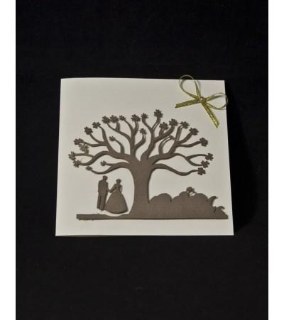 Покана с дървото на любовта Сватбени Покани