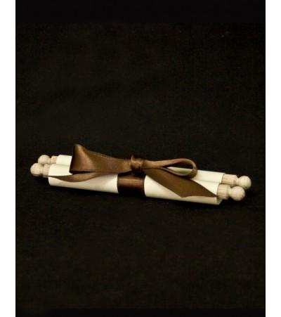 Покана - ръчна изработка свитък 04 Сватбени Покани