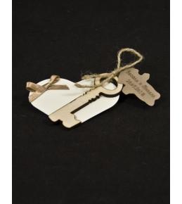 Декоративно  сърце с ключ и магнит