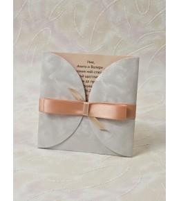 Сватбена покана лукс 04