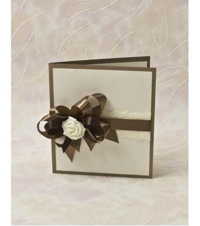 Покана -ръчна изработка 029 Сватбени Покани